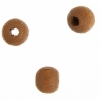 Wooden Bead Round 5mm Coffee Lacquered